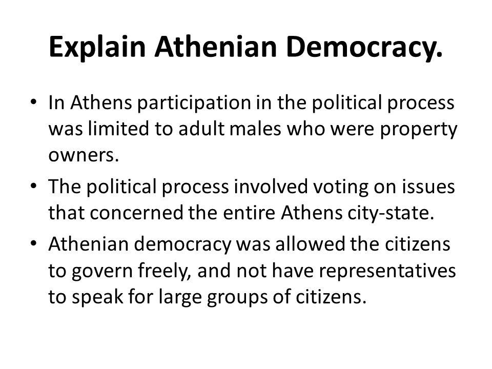 Explain Athenian Democracy.