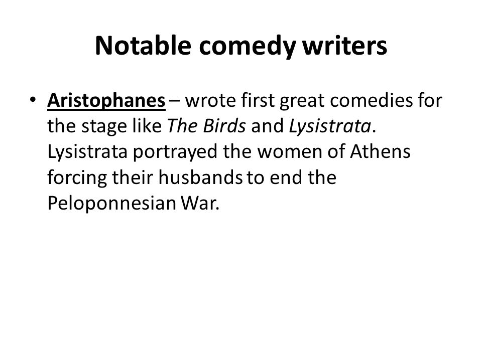 Notable comedy writers