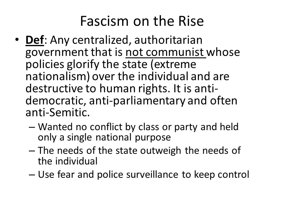 Fascism on the Rise