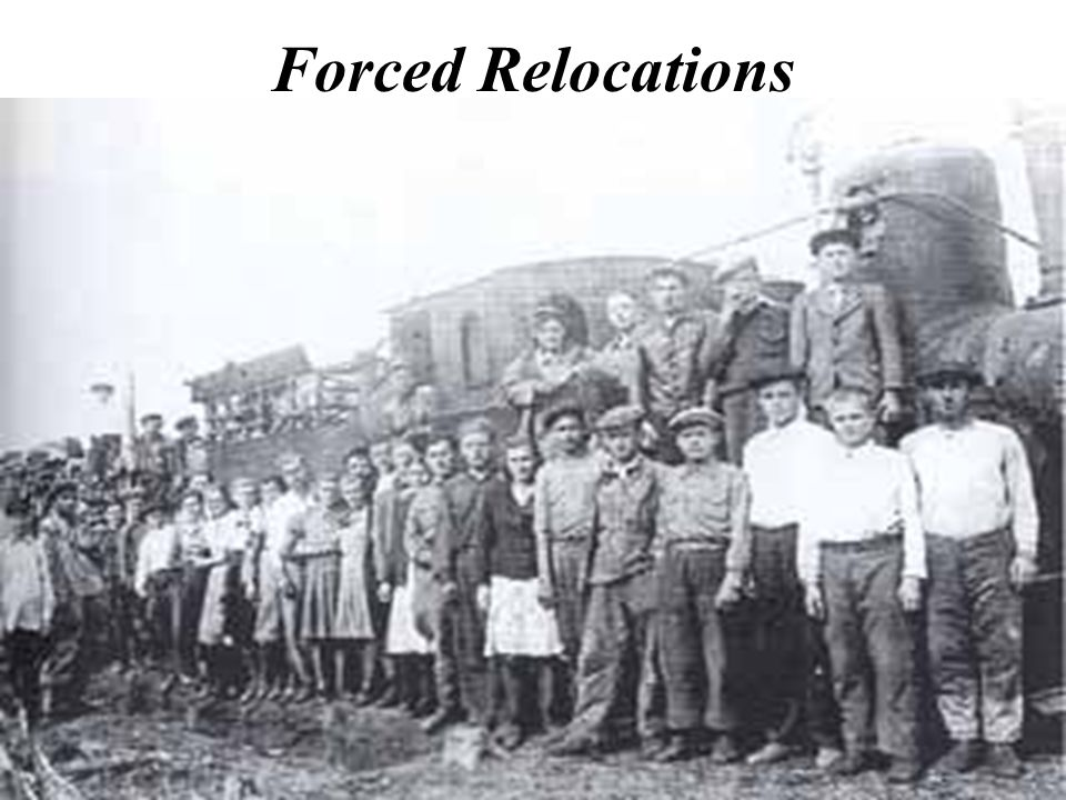 Forced Relocations