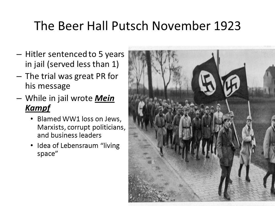 The Beer Hall Putsch November 1923