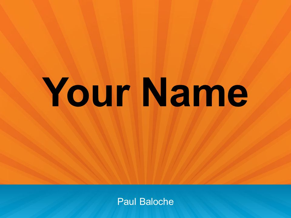 Your Name Paul Baloche