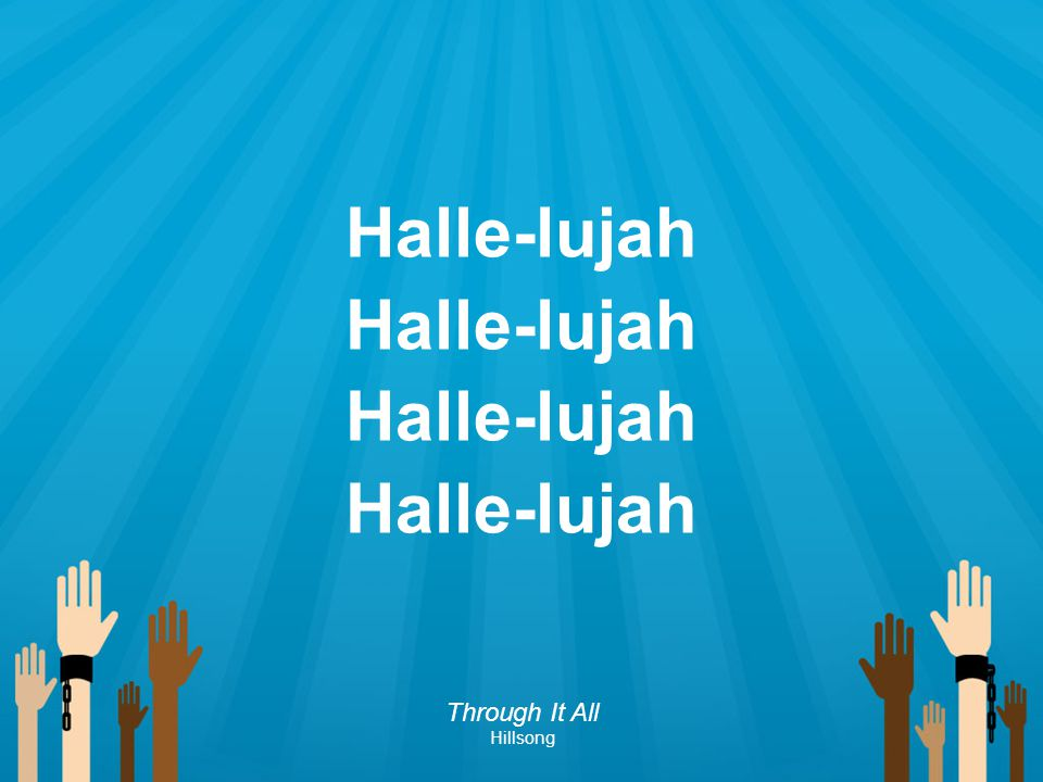Halle-lujah Through It All Hillsong 184 184