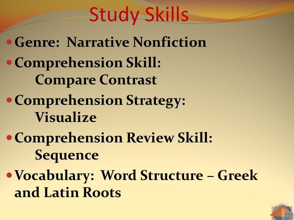 Study Skills Genre: Narrative Nonfiction