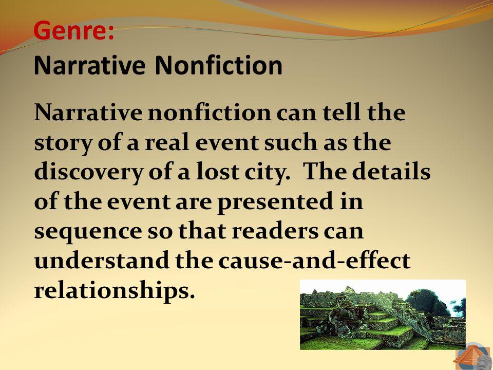 Genre: Narrative Nonfiction