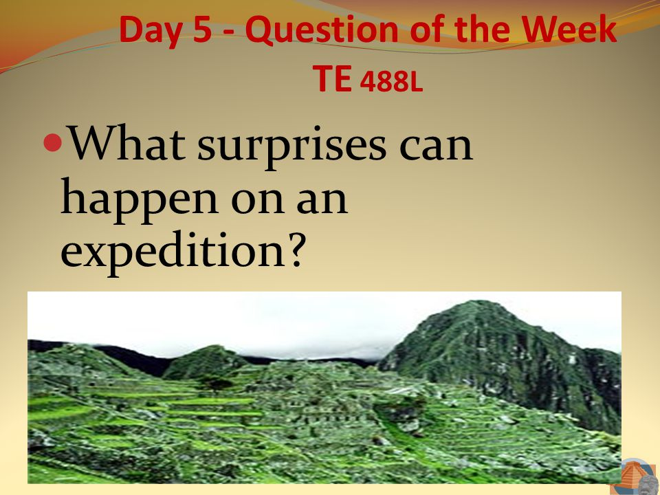 Day 5 - Question of the Week TE 488L