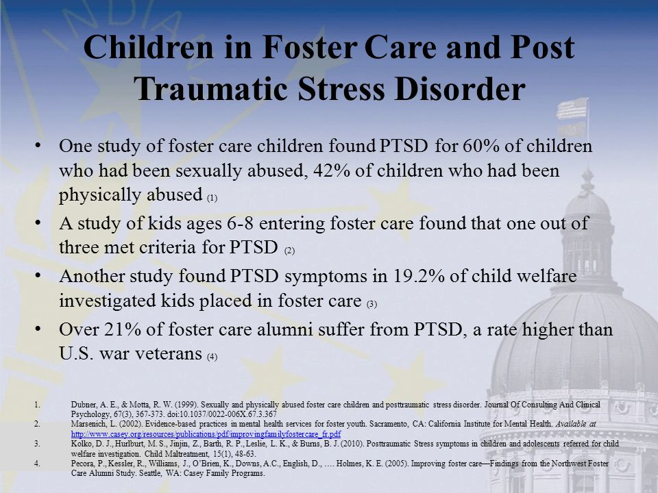 Children in Foster Care and Post Traumatic Stress Disorder