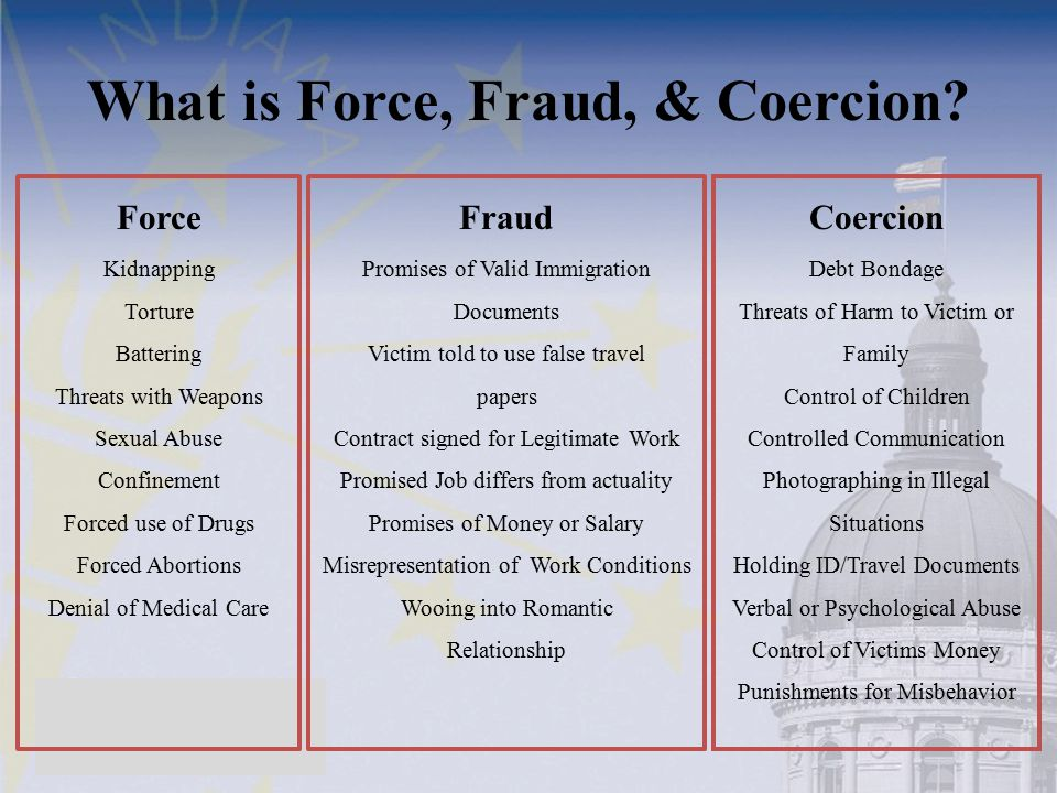 What is Force, Fraud, & Coercion