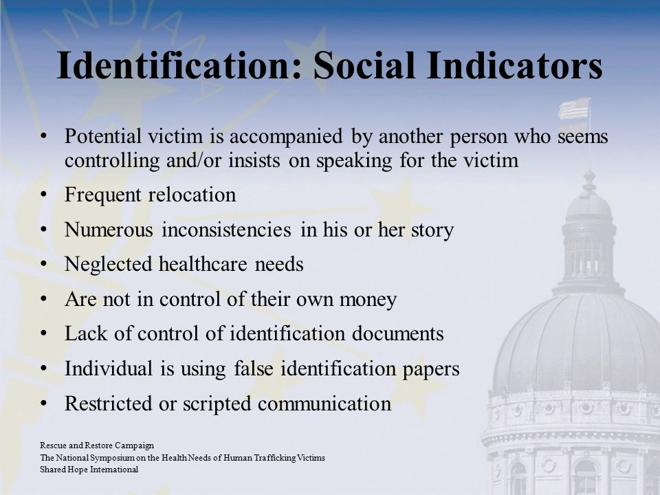 Identification: Social Indicators