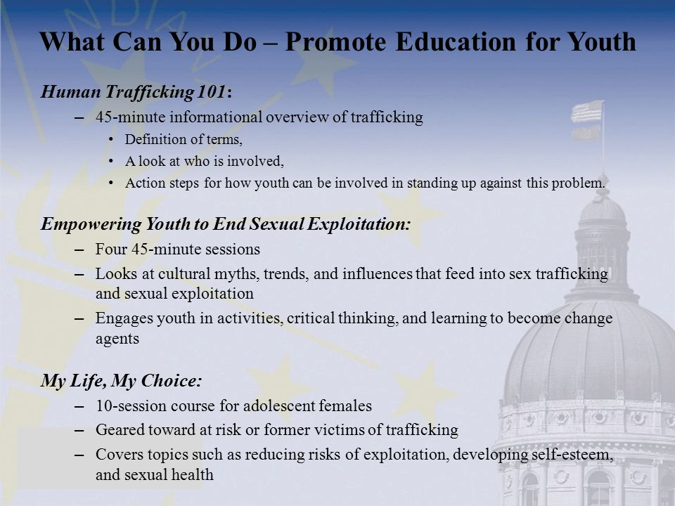 What Can You Do – Promote Education for Youth