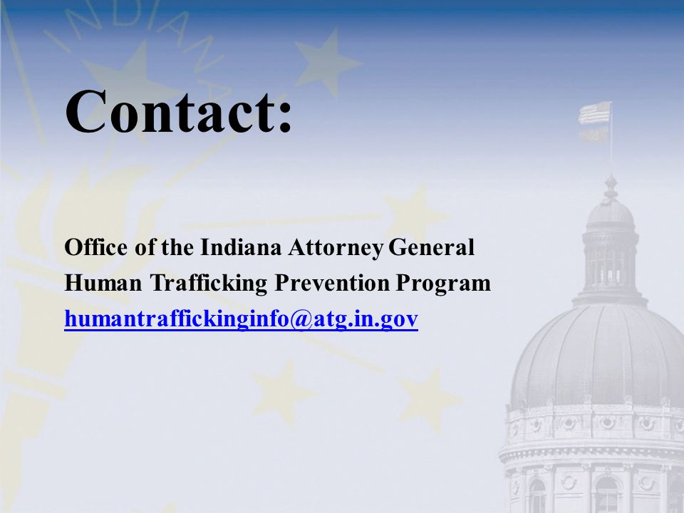 Contact: Office of the Indiana Attorney General