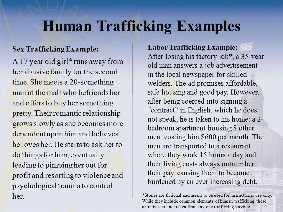 Human Trafficking Examples