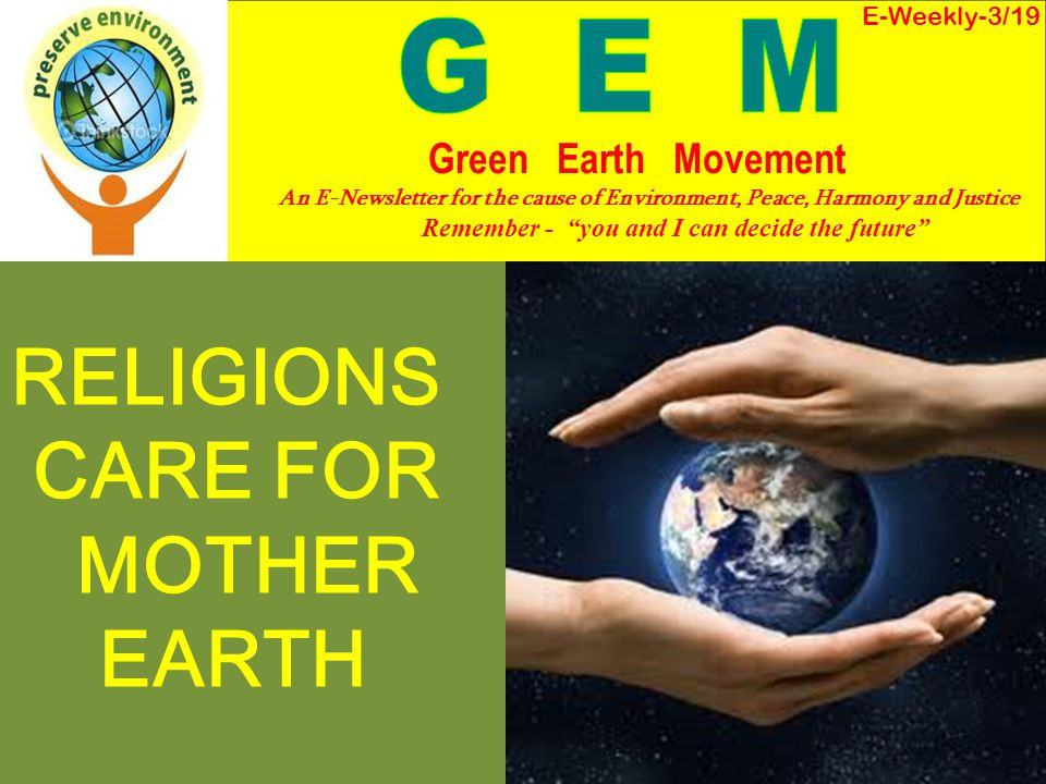 RELIGIONS CARE FOR MOTHER EARTH