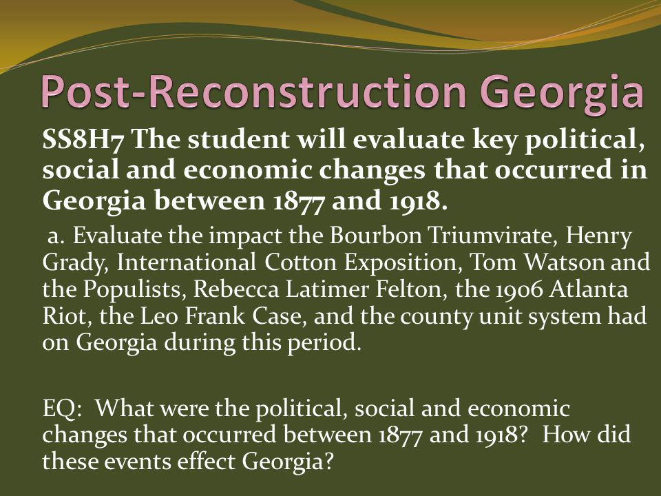 Post-Reconstruction Georgia