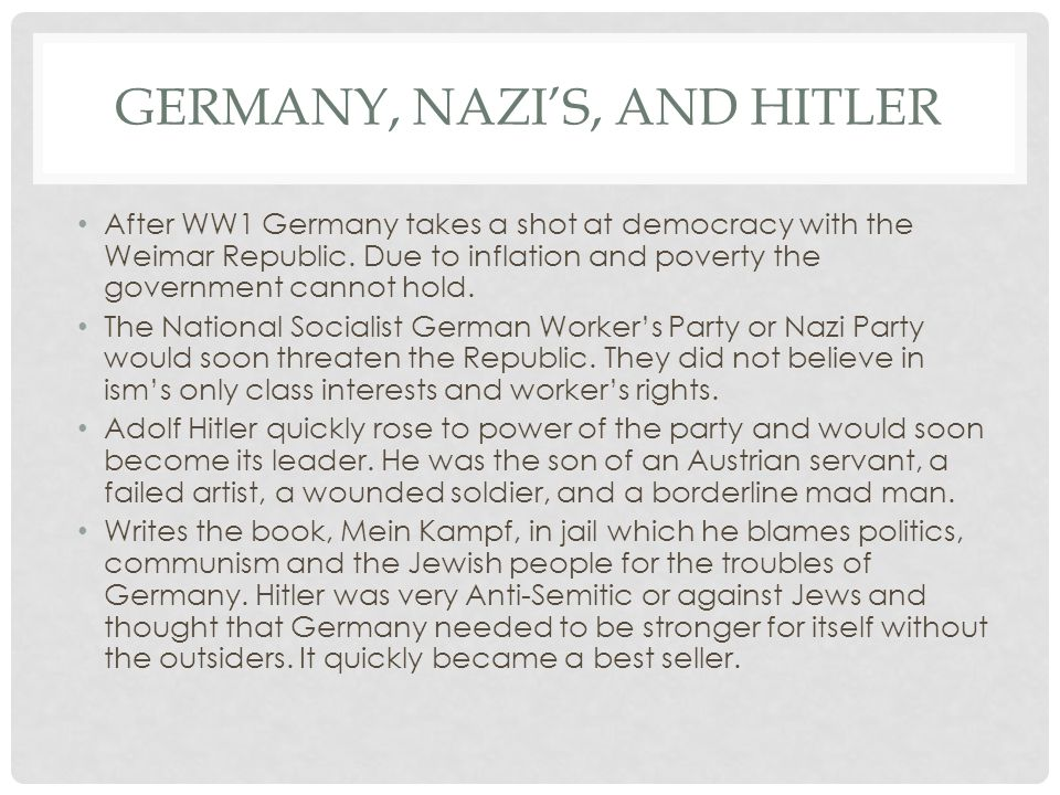 Germany, Nazi's, and Hitler