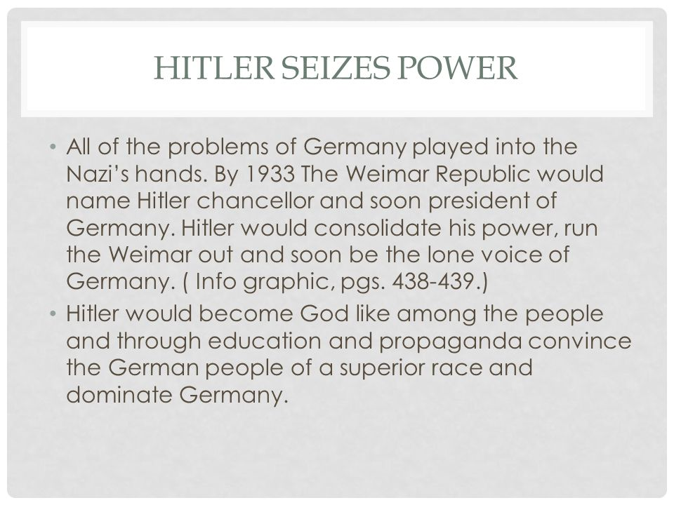 Hitler Seizes Power