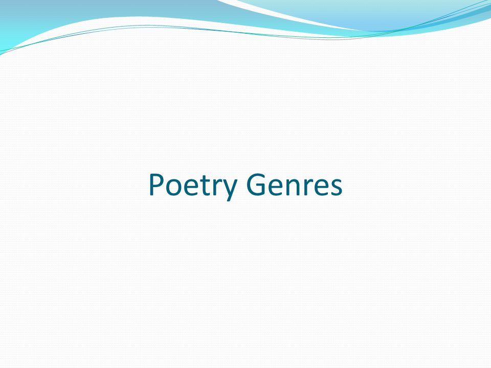 Poetry Genres