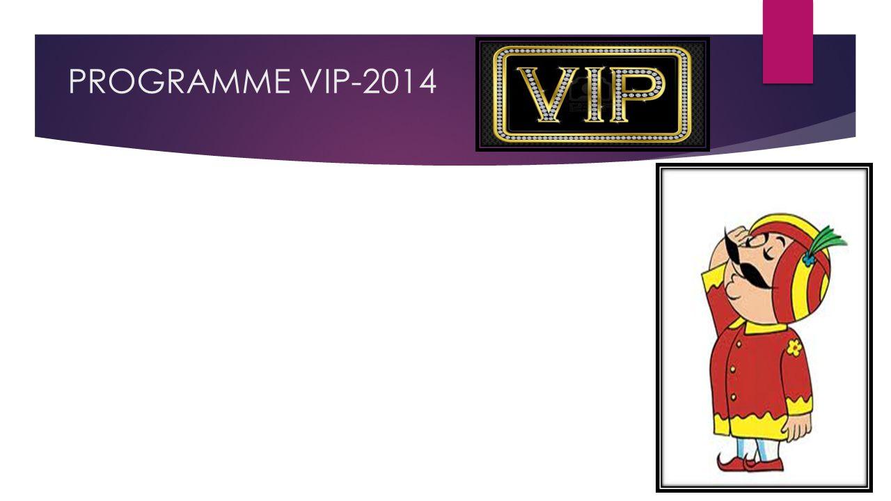 PROGRAMME VIP-2014