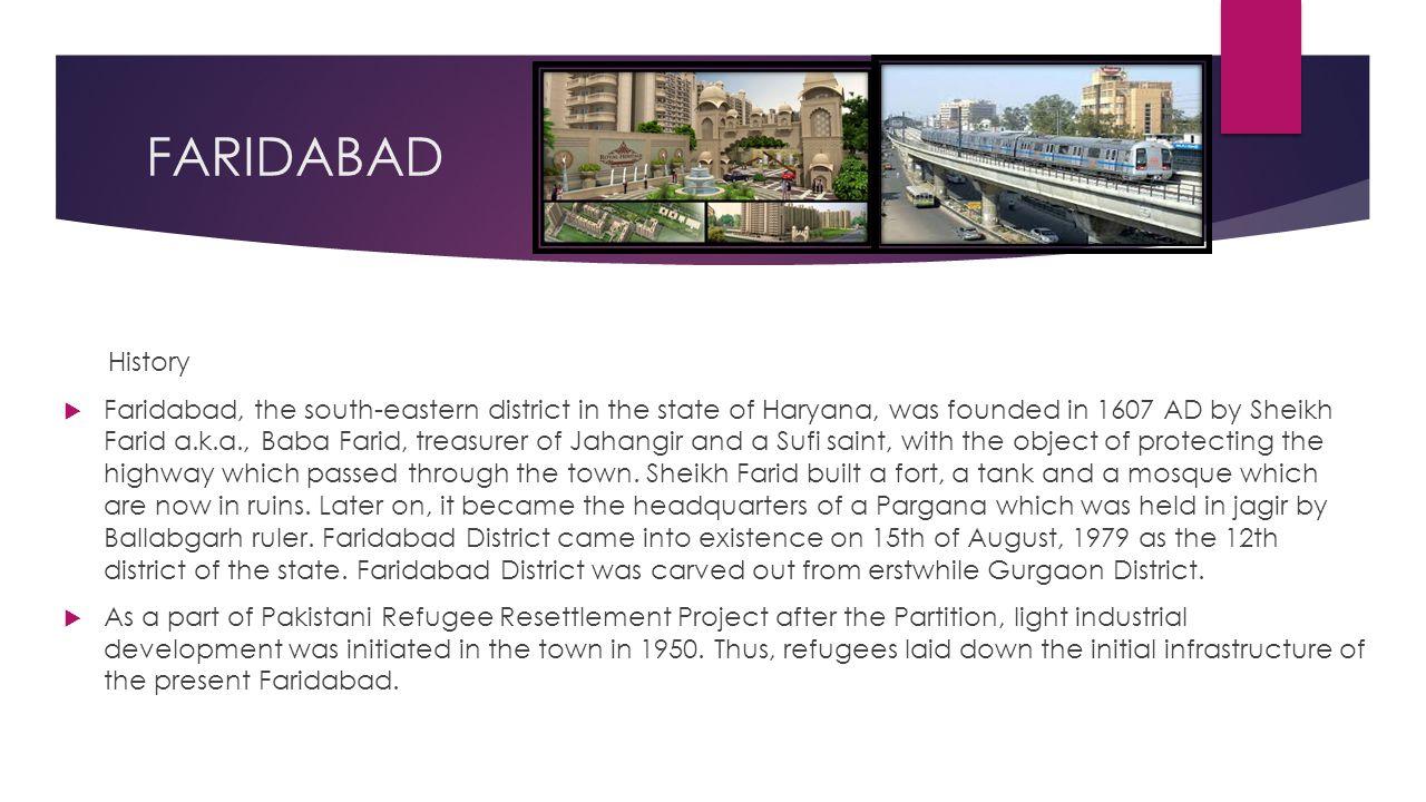 FARIDABAD History.