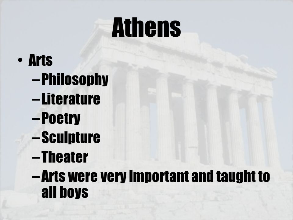 Athens Arts Philosophy Literature Poetry Sculpture Theater