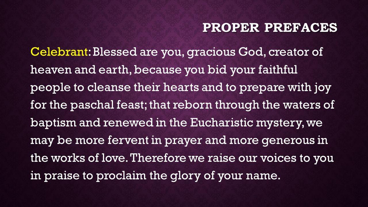 Proper prefaces