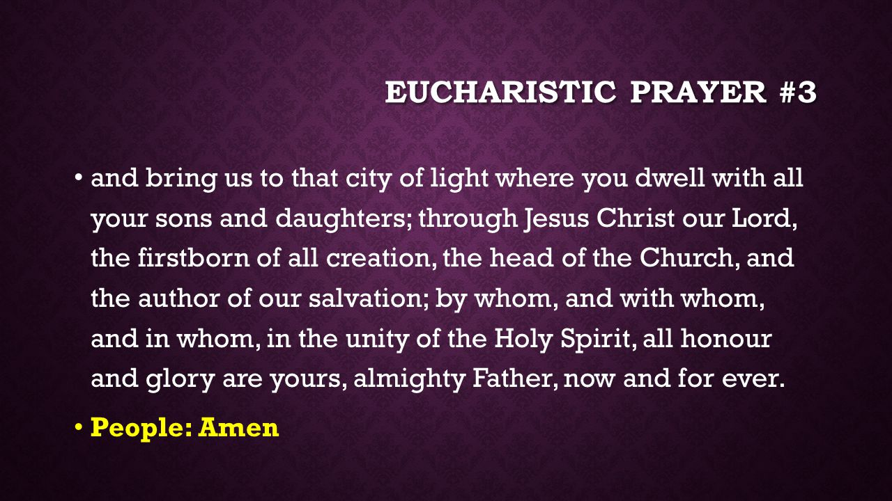 Eucharistic prayer #3