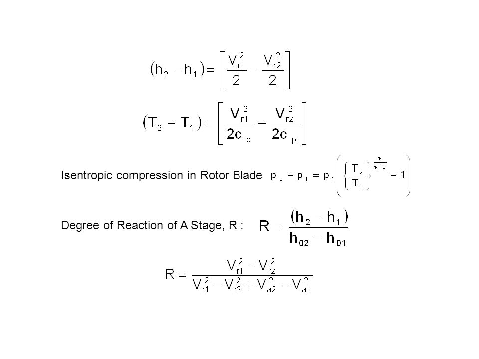 Isentropic compression in Rotor Blade