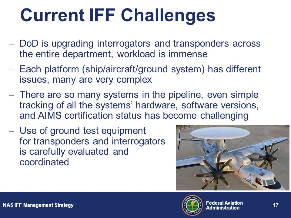Current IFF Challenges