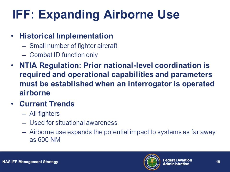 IFF: Expanding Airborne Use