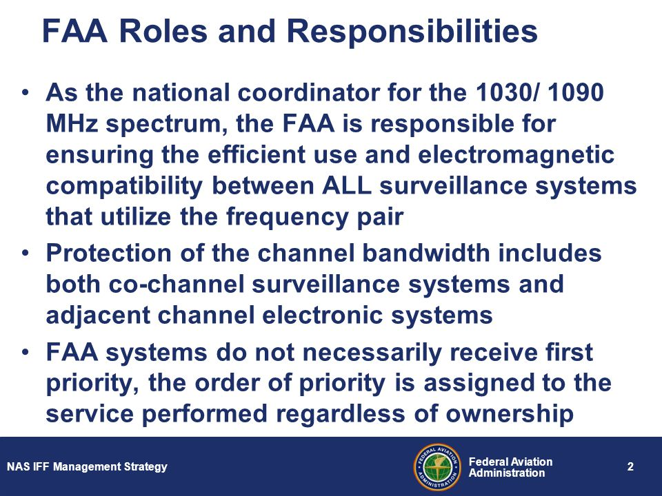 FAA Roles and Responsibilities