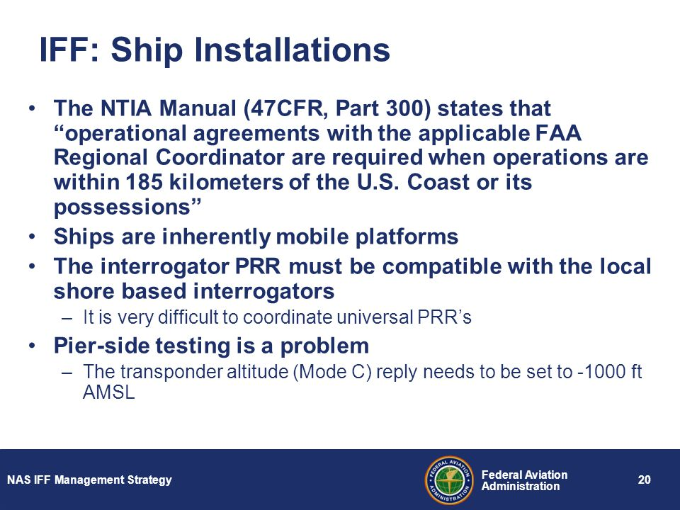 IFF: Ship Installations