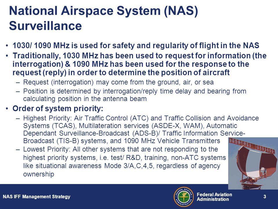 Future supportability of 10301090 mhz systems operations in the 3 national airspace system nas surveillance publicscrutiny Choice Image