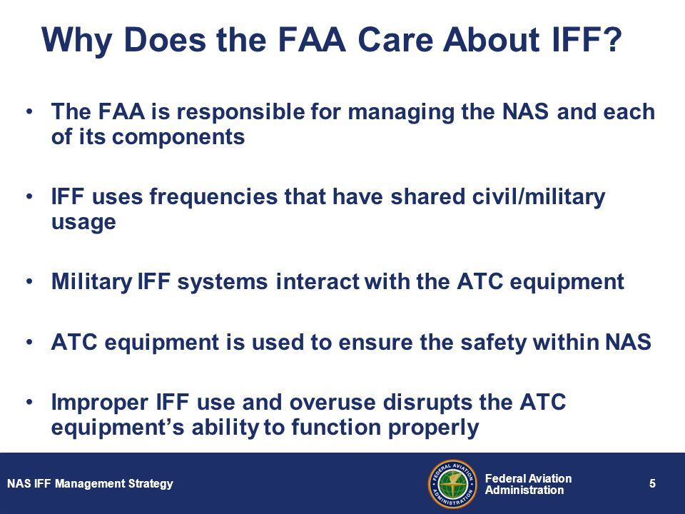 Why Does the FAA Care About IFF