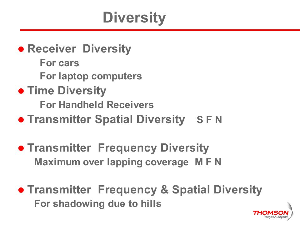 Diversity Receiver Diversity Time Diversity