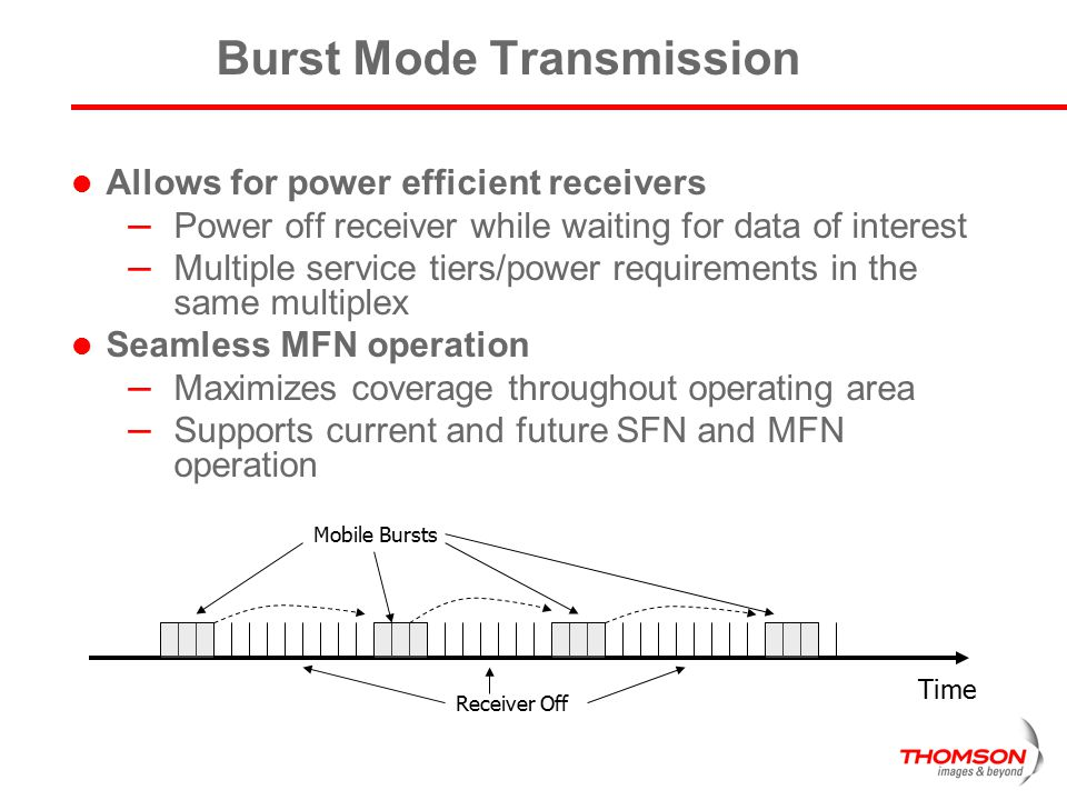 Burst Mode Transmission