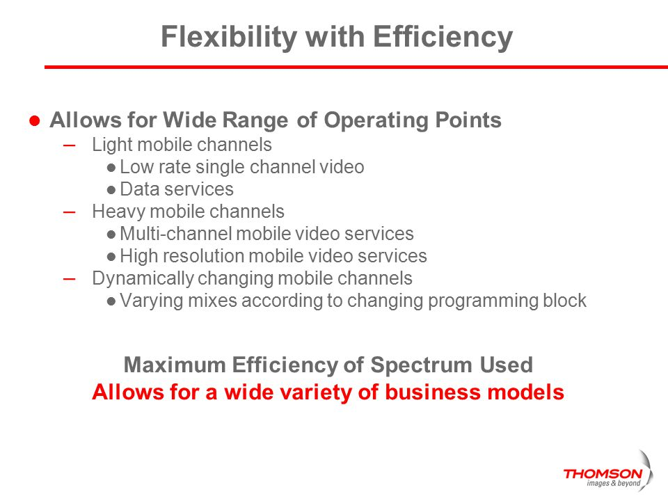 Flexibility with Efficiency