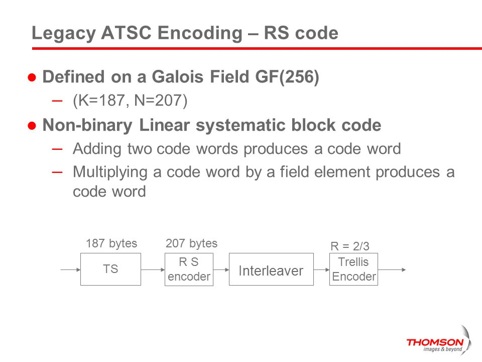 Legacy ATSC Encoding – RS code