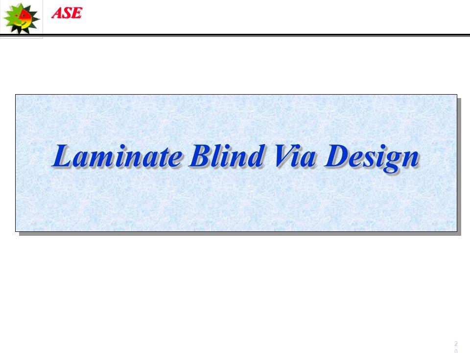 Laminate Blind Via Design