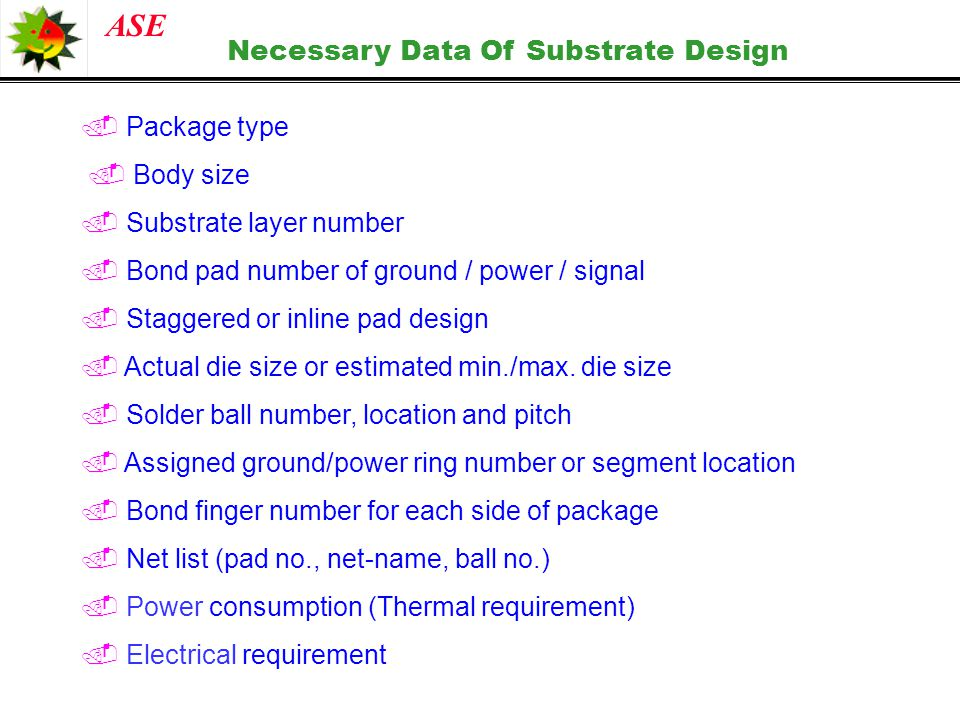 Necessary Data Of Substrate Design