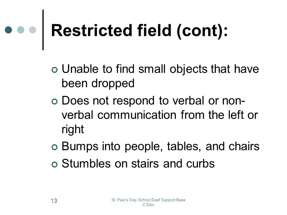 Restricted field (cont):