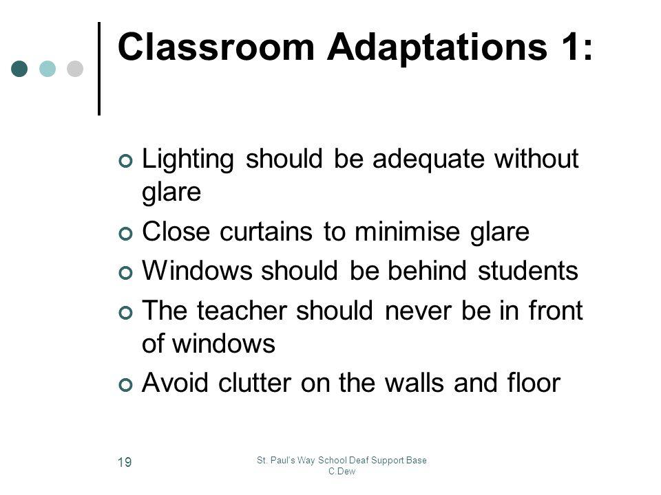 Classroom Adaptations 1:
