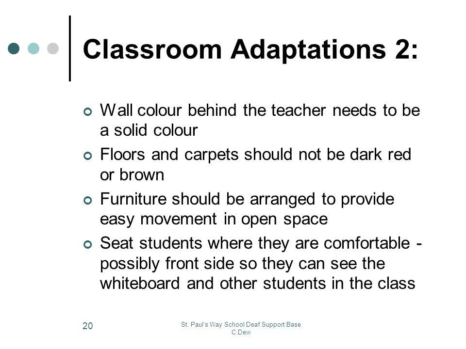 Classroom Adaptations 2:
