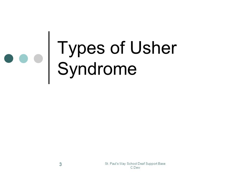 Types of Usher Syndrome
