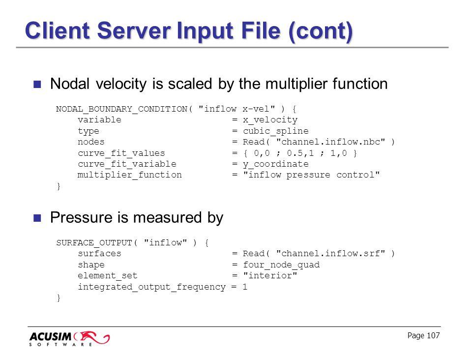 Client Server Input File (cont)