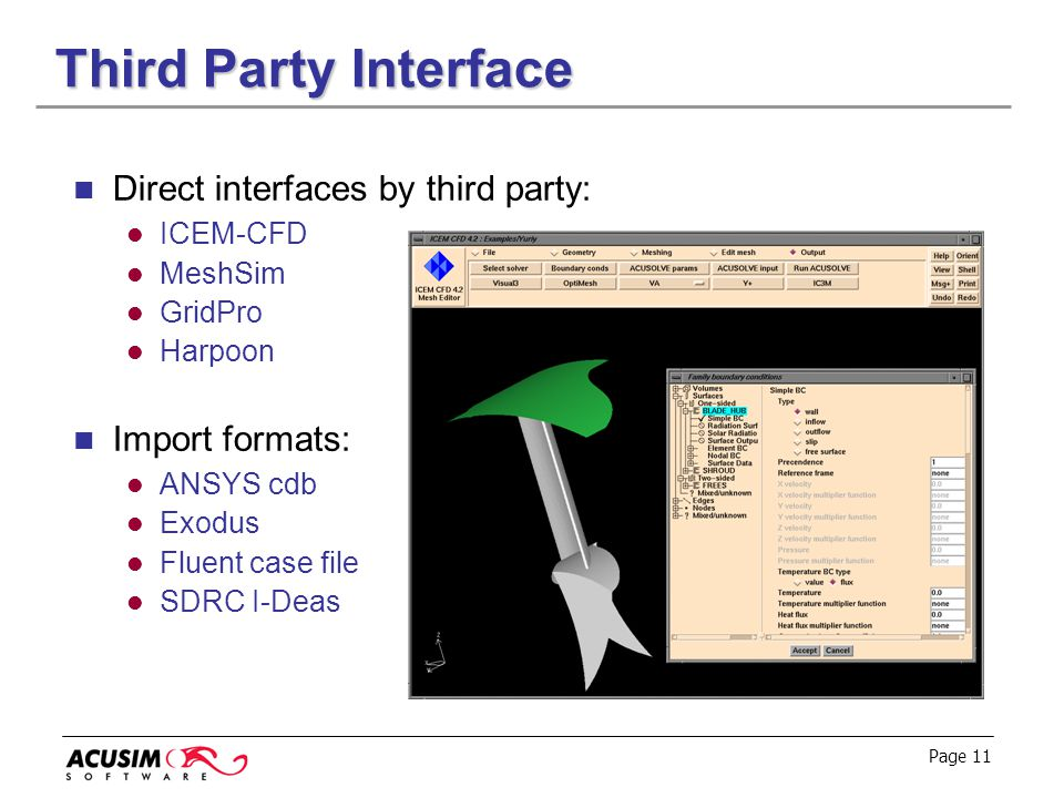 Third Party Interface Direct interfaces by third party:
