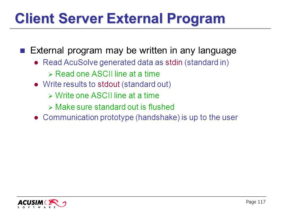 Client Server External Program