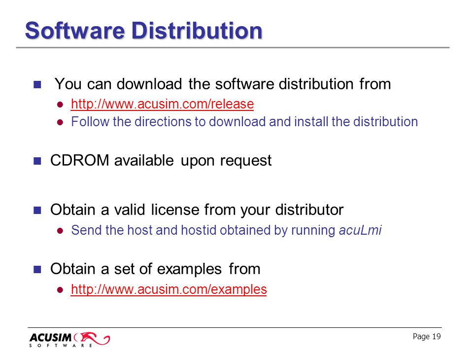 Software Distribution