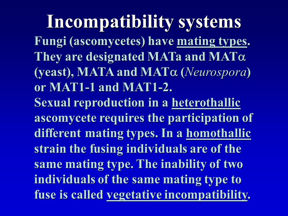 Incompatibility systems