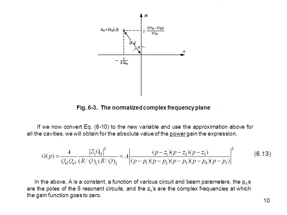 Fig. 6-3. The normalized complex frequency plane