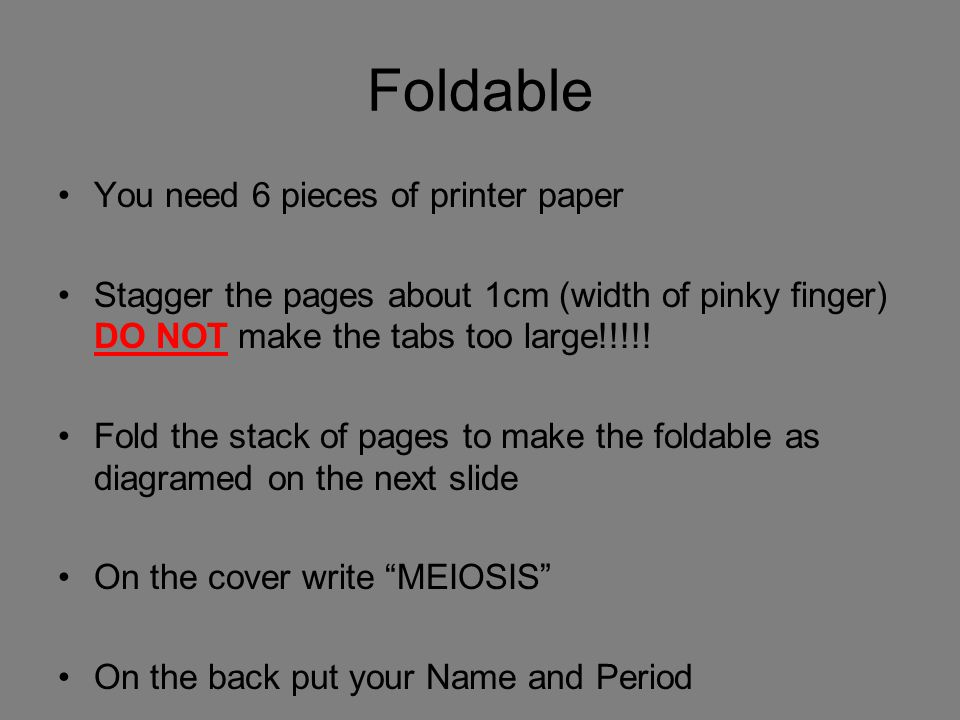 Foldable You need 6 pieces of printer paper